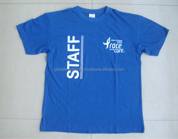 promotional cotton t-shirt with custom logo, cheap price t-shirts