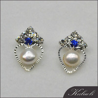 Cheap good quality freshwater pearl stud earring $1.00 jewelry
