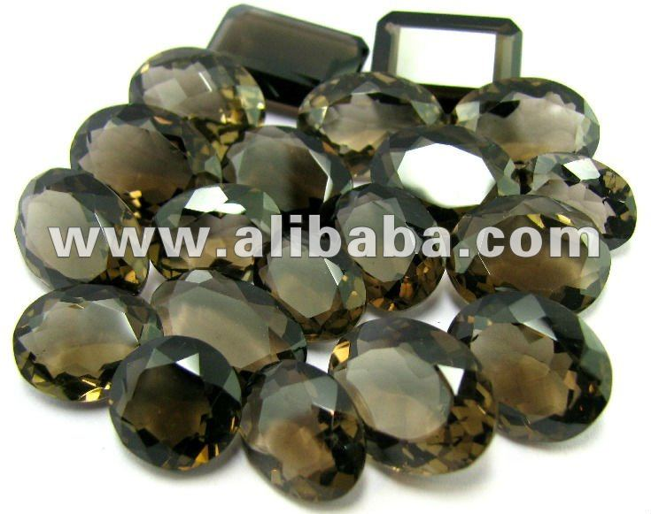 213Ct Natural Smoky Quartz Crystal Oval Emerald Cut Gemstone Wholesale Lot
