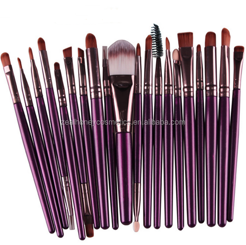 20 piece cosmetic eye shadow brushes