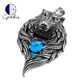 Gentdes Jewelry Wolf Men's Pendant Stainless Steel Cool Biker Jewelry