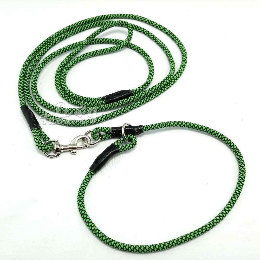 Safety Nylon Pet Dog Puppy Cat Kitten Adjustable Traction P chain Rope for small puppy and cats