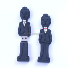 Custom usb stick shape soft pvc usb flash drive cartoon U disk