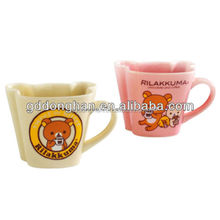 cute special design decal ceramic cup with lovely cartoon image