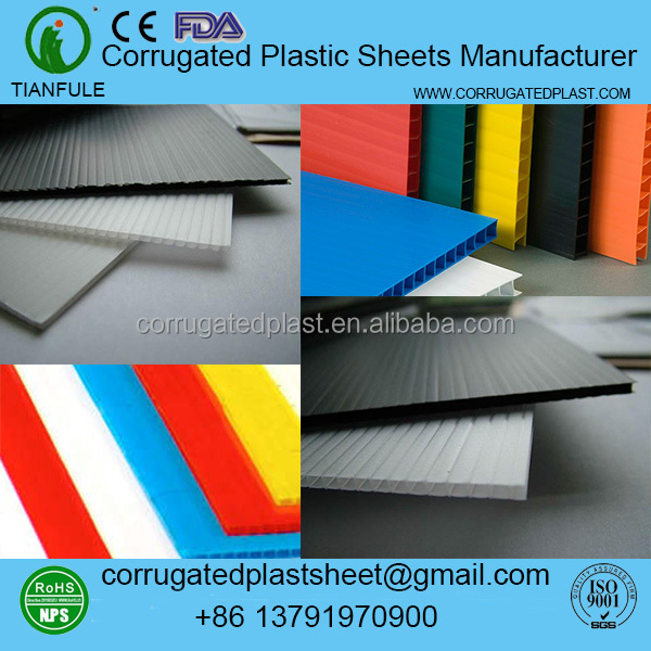 2mm 3mm 4mm 5mm die cut corrugated plastic sheets