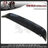 Spoon-style carbon fiber rear roof spoiler for 1992-1995 Honda Civic Hatchback (EG)