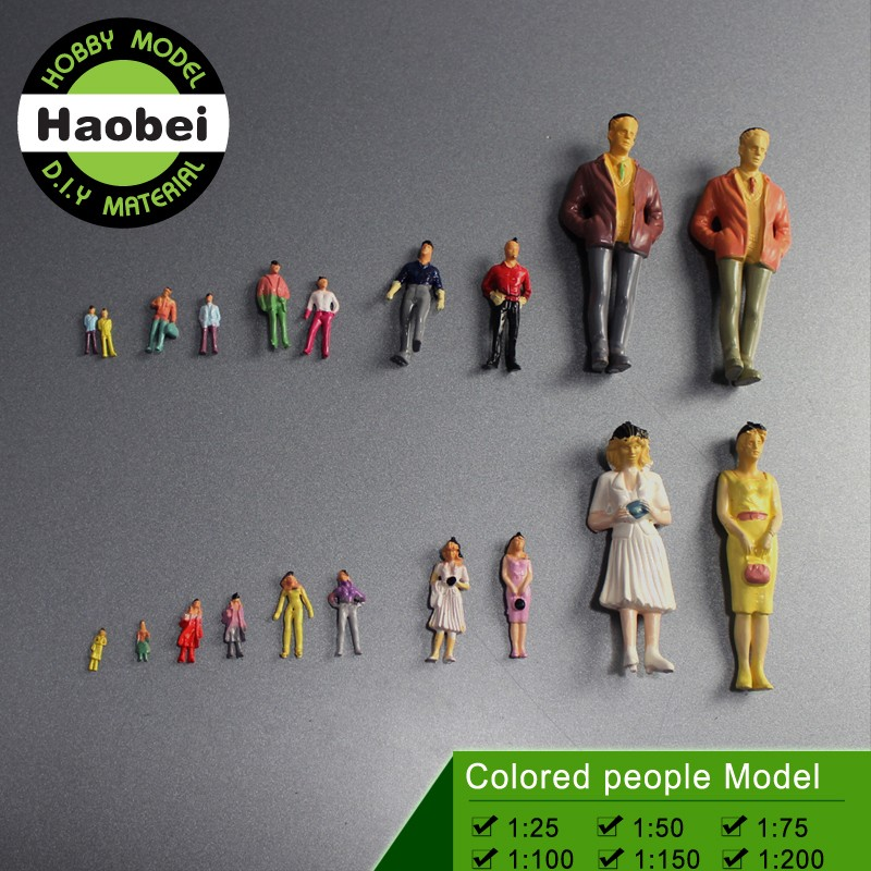 scale mini coloured model figure