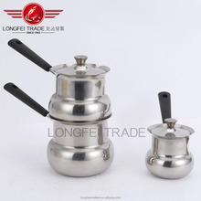 2016 new shape hot in china india stainless steel soup/milk boiling pot sets
