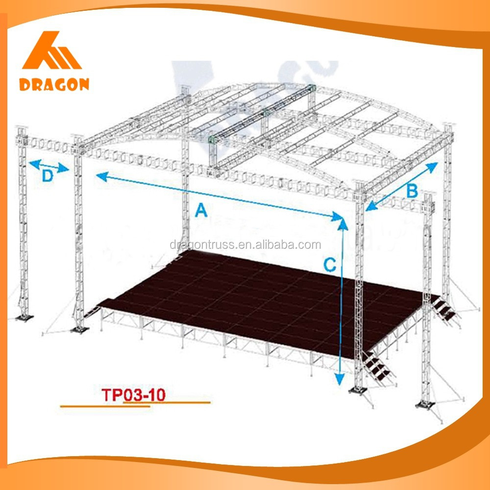 Performance stage and canopy,the truss with 8 legs