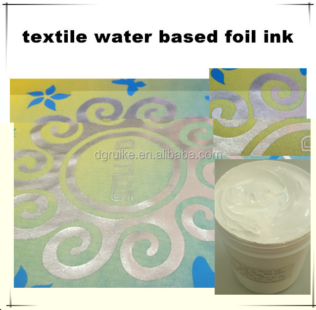 silver water based ink rubber paste for t-shirt textile