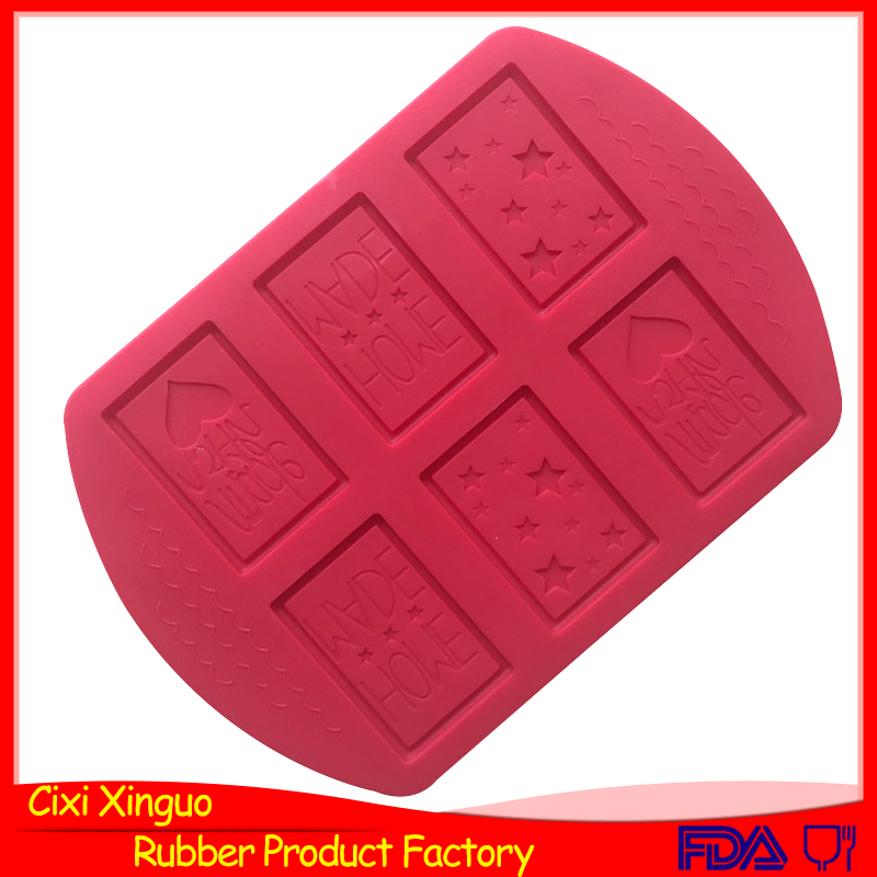 6holes hand make silicone star picture silicone chocolate pie mold