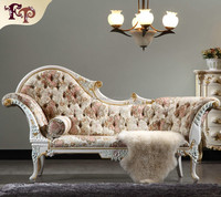 antique hand carved wood furniture - luxury royalty solid wood handcraft chaise lounge