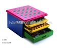 Colorful MDF Small 10 in 1 chess set