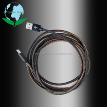 2017 hot sell high quality Type-C gray jeans USB 3.1 fast charging data cable