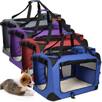 Travel Dog Crate Carrier with strong steel frame