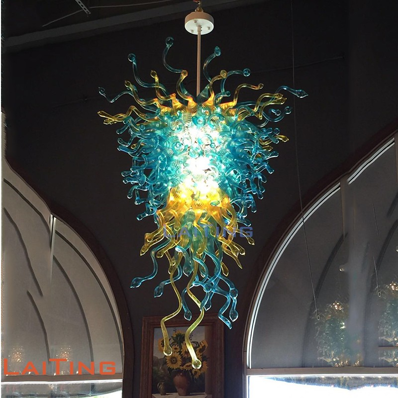 Multi Colored Hand Blown Glass Chandelier for Wedding Ballroom G12