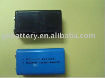 Li-ion 9V500mAh battery pack