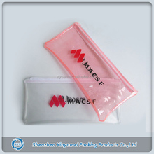 clear vinyl pvc zipper pouch