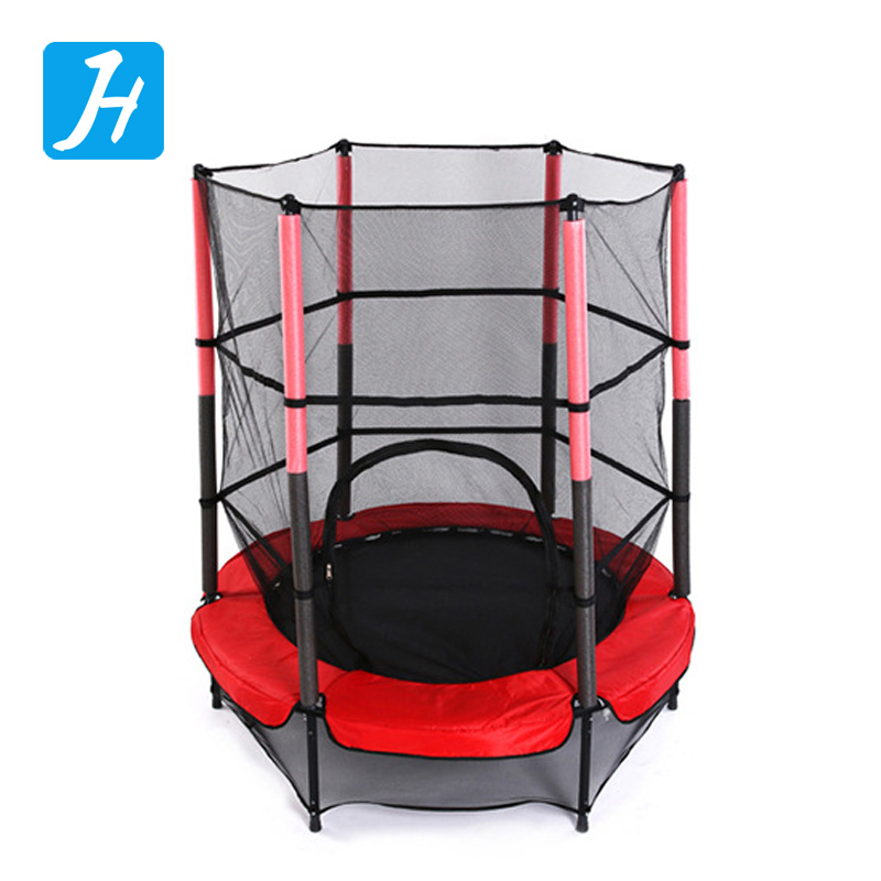 Top quality 6FT Outdoor Fitness Exercise Equipment Gymnastic Trampoline With Safety Net And Ladder