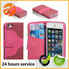 The most popular business wallet leather case for iphone 5c,stand case for iphone 5c