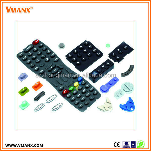 Custom silicone rubber push button for machine