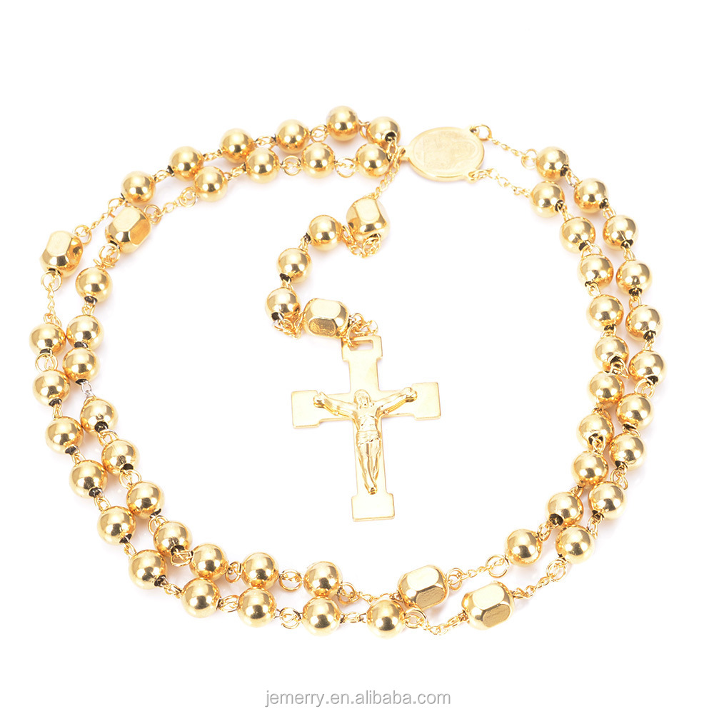 Wholesale Prayer Religion Stainless Steel Baltic Amber Rosary Necklace Bead