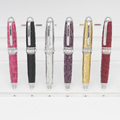 various color mini twist crystal leather pen for lady promotional gift