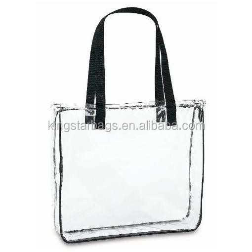 Clear Handbags&More Clear Tote Bag with Black Handles for Women