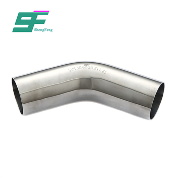 Factory wholesale good performance pipe fitting stainless steel Sanitary Elbow