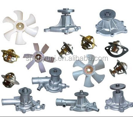 Diesel engines spare parts, water pump, pistons