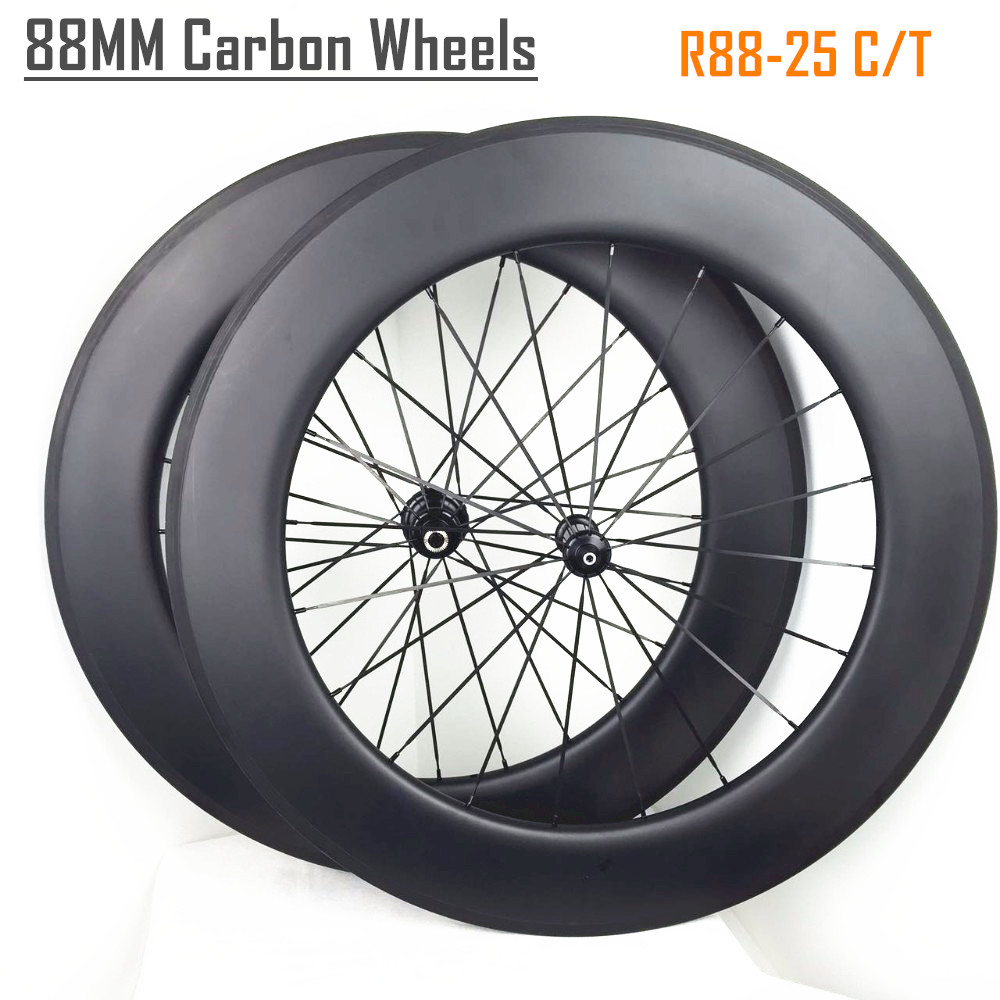 700C road wheels 88mm chinese clincher carbon road disc wheels 88*25mm China
