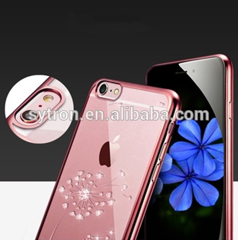 New DESIGN Luxury Bling Diamond electroplated tpu case for iphone5/se/5s