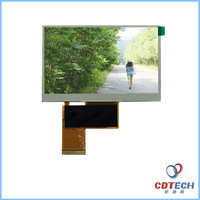 4.3 inch flexible tft lcd panel with resolution 480*272