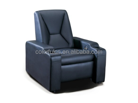 Electric leather sofa recliner for home, hotel leather cinema sofa/recliner theater chair/ recline sectional sofa LS805
