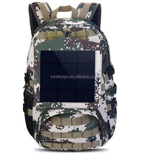 Military Camouflage Backpack Solar Powered Bag