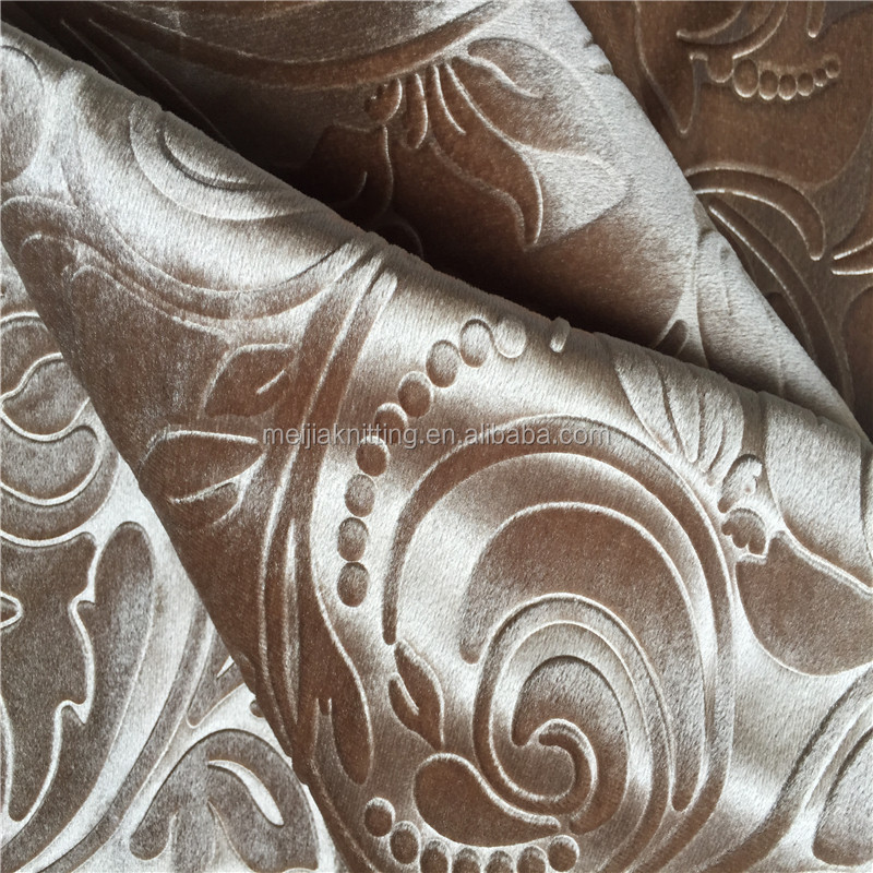 deep 3D embossed on Italy velvet for sofa upholstery