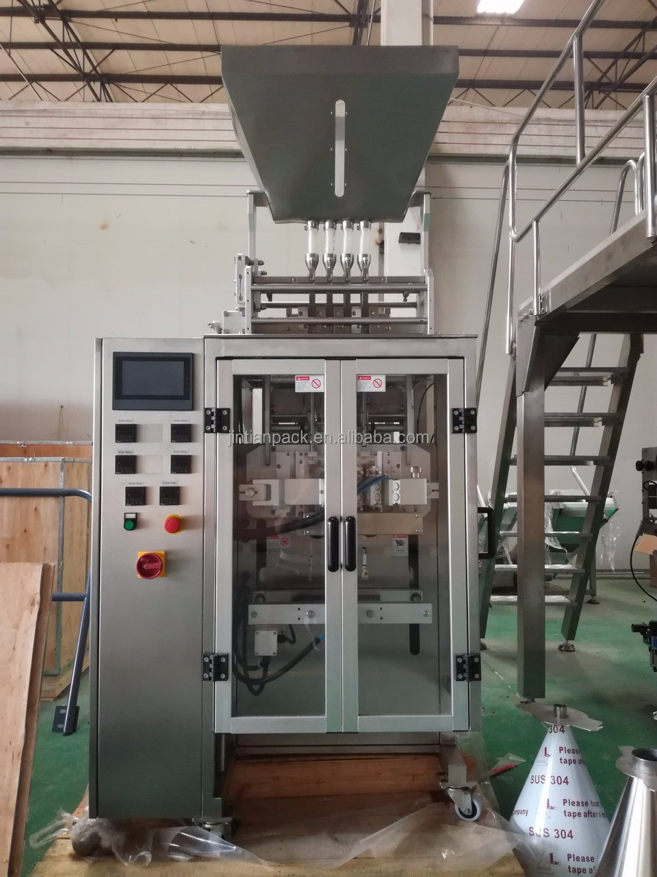 Automatic multiline sugar stick filling packing machine