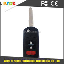 KPU41788 3 button Top best quality porsche remote key blank for Mazda /6 2005-2008