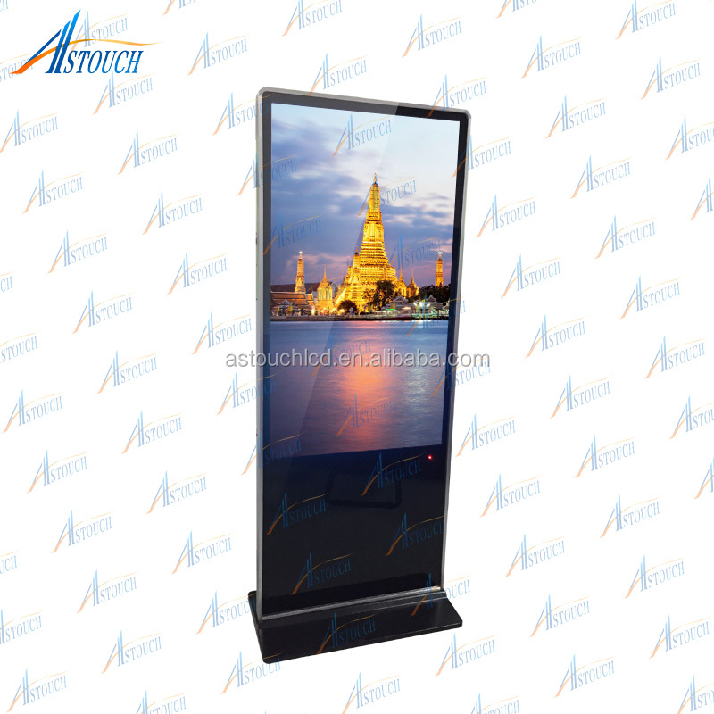 Network Android Supermarket & restaurant outdoor lcd poster display FULL HD 55 inch floor standing digital