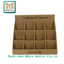 Kraft Paper Material Small Corrugated Cardboard Counter Display Stands for Business Cards