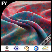 custom digital print woven brushed polyester spandex fabric