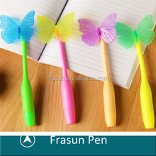 Cute Butterfly Top Children Pen For Promotional Logo ,New Model Insect Pen For Promotinal Logo