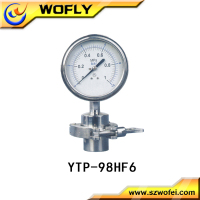 firm connection shock-proof steam boiler diaphragm pressure gauge