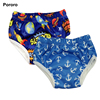 Pororo reusable bamboo cloth diapers wholesale baby cloth nappies washable potty panties training pants