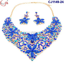 CJ1149-24 colorful crystal flower design jewelry beads fashion new graceful wedding jewelry indian Bridal jewelry