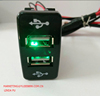 Hot! Green usb power socket