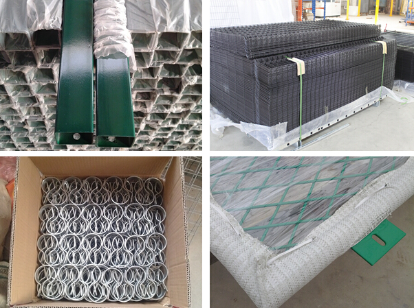PVC coated wire mesh fence for backyard