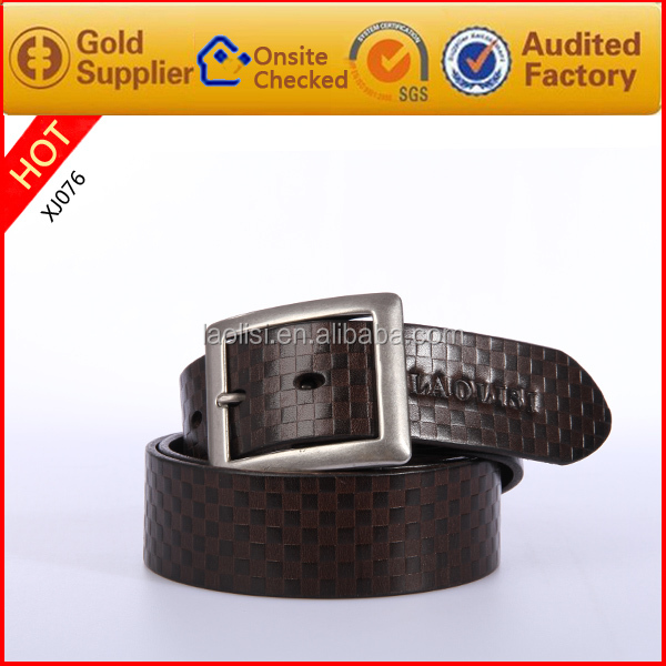 100% pu belt italy + fashion belt buckle for men