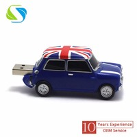 2016 best selling promotional custom logo full printed metal car promotion usb flash