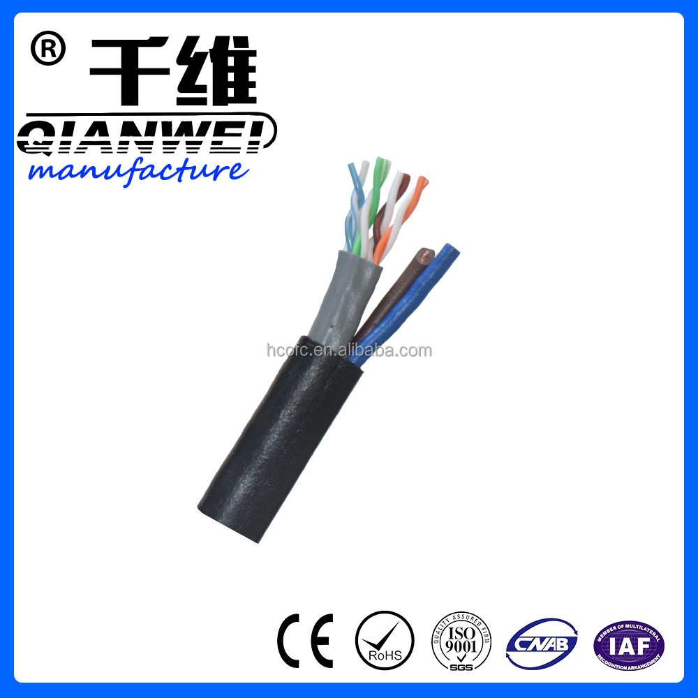 USA market hot sales network cable cat5e cable with power wire line